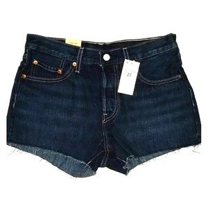 Levi's 501 Jean Shorts Raw Hem Button Fly Size 27